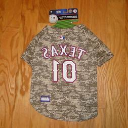 texas rangers camo baseball jersey nwt size