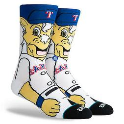 Texas Rangers Captain Mascot Stance Socks MLB Large Men's 9-