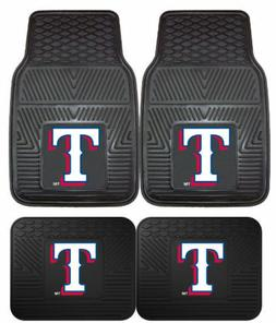 texas rangers car floor mats 4pc sets