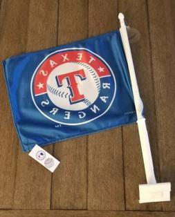 Texas Rangers Car Window Baseball Flag Genuine MLB Merchandi