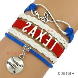 Texas Rangers Charm Baseball Bracelet Charm Quality Fast Shi