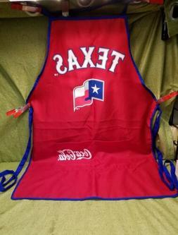TEXAS RANGERS COCA COLA COOK BARBECUE APRON RED & BLUE TRIM