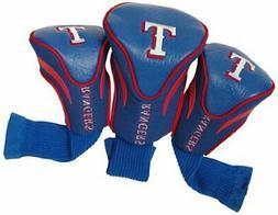 Texas Rangers 3-Pack Contour Golf Club Headcovers - Royal Bl