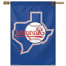 """TEXAS RANGERS COOPERSTOWN COLLECTION 28""""X40"""" BANNER FLAG NEW"""