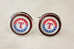 Texas Rangers Cuff Links made from Baseball Trading Cards
