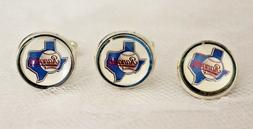 Texas Rangers Cufflinks and Tie Tack Set Upcycled from MLB C