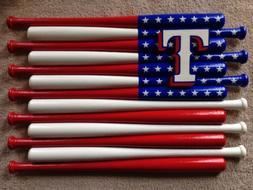 Texas Rangers Custom Baseball Bat Flag