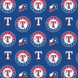 TEXAS RANGERS Fabric 1/4 yard-MLB Cotton Fabric - for Face M