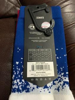 STANCE Texas Rangers Fade MLB Red White Blue Socks Men's Siz