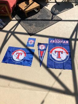 Texas Rangers Flags NEW House, Garden and Medium Flag with P