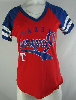 Texas Rangers G-III Women's Mesh Sleeve Varsity T-Shirt  MLB