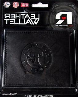 Texas Rangers Genuine Leather Wallet Black Baseball MLB Bill