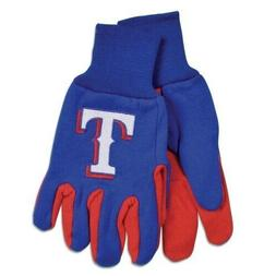 Texas Rangers Gloves Non Slip Work Utility Adult MLB Basebal