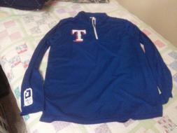 Texas Rangers Half Zip Pullover   X-large Ballpark Promotion