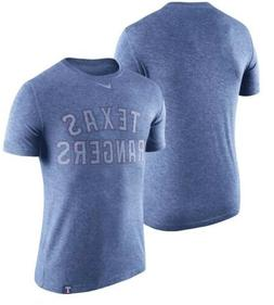 Nike Texas Rangers Heathered Royal Tri-Blend Dri Fit Shirt M
