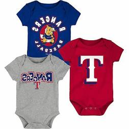 Texas Rangers Infant Everyday Fan Three-Pack Bodysuit Set -