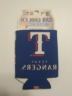 TEXAS RANGERS  KOOZIE CAN COOLER NEW DOUBLE SIDED FOLD FLAT