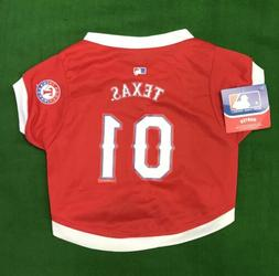 Texas Rangers Large Dog Jersey MLB Baseball Pet Shirt
