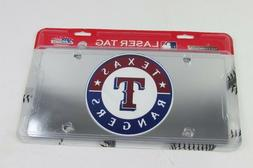 Texas Rangers Laser Cut Acrlic Mirror License Plate Rico Ind