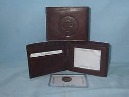TEXAS RANGERS     Leather BiFold Wallet    NEW    dkbr3 z mz