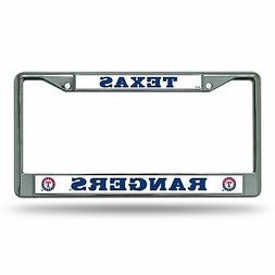 Texas Rangers License Plate Frame Chrome