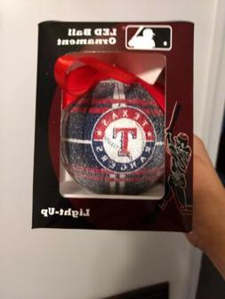 Texas Rangers Light Up LED BALL Christmas Ornament New in Bo