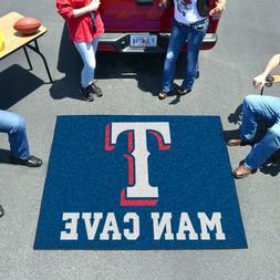 Texas Rangers Man Cave 5' X 6' Tailgater Area Rug Floor Mat