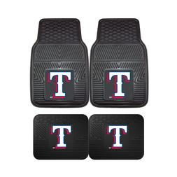 Texas Rangers MLB 2pc and 4pc Mat Sets - Heavy Duty-Cars, Tr