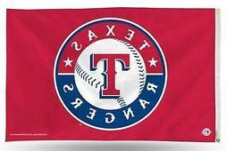 Texas Rangers MLB Banner Flag 3' x 5'  ~NEW