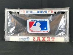 Texas Rangers MLB Baseball 80s Vintage License Plate Metal F