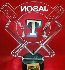 Texas Rangers MLB Baseball Light Up Lamp LED Night Light Per