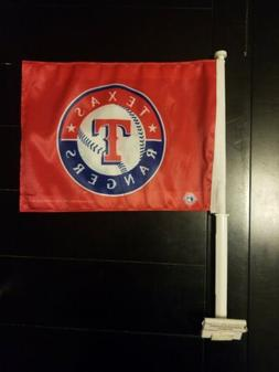 Texas Rangers MLB Baseball Window Car Flag New Red