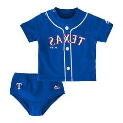 "Texas Rangers MLB Blue ""Little Player"" Creeper & Diaper Set"