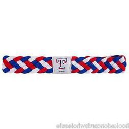 Texas Rangers MLB Braided Style Elastic Headband Hairband -
