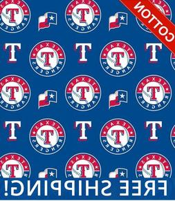 """Texas Rangers MLB Cotton Fabric - 58"""" Wide - Style# 6657 - F"""