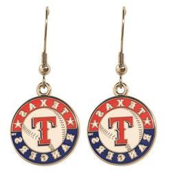 Texas Rangers MLB Dangle Ear Rings