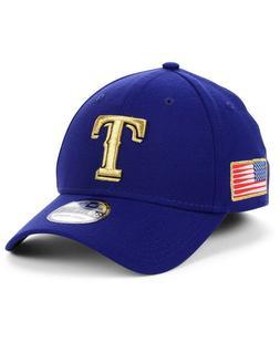 Texas Rangers New Era MLB Flag Patch 39THIRTY Cap Hat USA Me