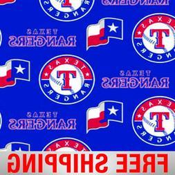 "Texas Rangers MLB Fleece Fabric - 60"" Wide - Style# 6551 - F"