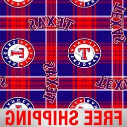 "Texas Rangers MLB Fleece Fabric - 60"" Wide - Style# 6611 - F"