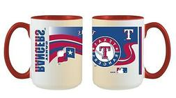Texas Rangers MLB Full Wrap 15oz Jumbo Coffee Mug FREE SHIP!