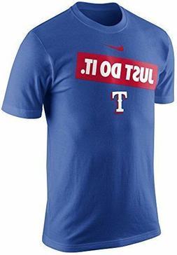 Texas Rangers Nike MLB Just Do It Bumper Sticker Tee NWT  Me