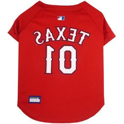 Texas Rangers MLB Pets First Licensed Dog Jersey, Red Sizes