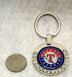Texas Rangers MLB Licensed Premium Rhinestone Keychain w/ sp