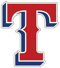 "Texas Rangers MLB Logo Vinyl Decal - You Choose Size 2""-28"""