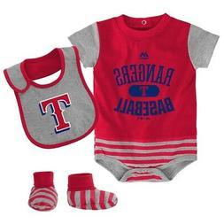 Texas Rangers MLB Majestic Infant Red Baseball Property Cree