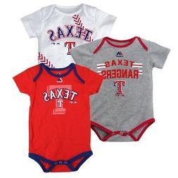 "Texas Rangers MLB Majestic Infant ""Three Strikes!"" 3 Piece C"