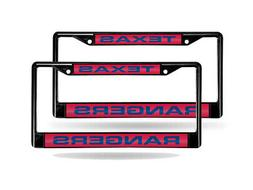 Texas Rangers MLB  Black Metal Laser Cut License Plate Frame