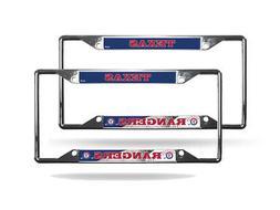 Texas Rangers MLB  Chrome EZ View 4 corner License Plate Fra
