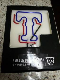 Texas Rangers Neon Logo Desk Lamp - New