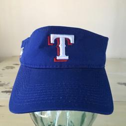 TEXAS RANGERS - NWOT Blue Strapback TEAM MLB Adjustable Viso